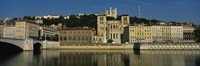 "Buildings On The Saone River, Lyon, France by Panoramic Images - 36"" x 12"""