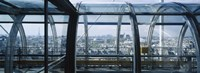 "Elevated walkway in a museum, Pompidou Centre, Beauborg, Paris, France by Panoramic Images - 36"" x 12"""