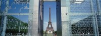 "Eiffel Tower through a Window, Paris, France by Panoramic Images - 36"" x 12"""
