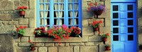 "Facade of a building, Locronan, France by Panoramic Images - 36"" x 12"""