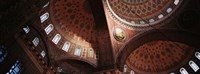 Turkey, Istanbul, Suleyman Mosque, interior domes Fine Art Print