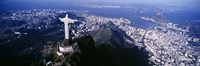View of Christ the Redeemer and Rio De Janeiro, Brazil Fine Art Print