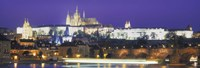 """Hradcany Castle and Charles Bridge Prague Czech Republic by Panoramic Images - 36"""" x 12"""", FulcrumGallery.com brand"""