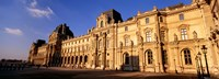 "Facade of an art museum, Musee du Louvre, Paris, France by Panoramic Images - 36"" x 12"""