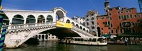"""Low angle view of a bridge across a canal, Rialto Bridge, Venice, Italy by Panoramic Images - 36"""" x 12"""""""
