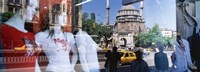 """Window Reflection, Istanbul, Turkey by Panoramic Images - 36"""" x 12"""""""