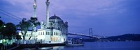 """Ortakoy Mosque, Istanbul, Turkey by Panoramic Images - 36"""" x 12"""", FulcrumGallery.com brand"""