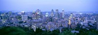 "Cityscape at dusk, Montreal, Quebec, Canada by Panoramic Images - 36"" x 12"""