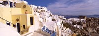 "Buildings in a city, Santorini, Cyclades Islands, Greece by Panoramic Images - 36"" x 12"""