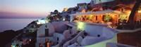 Terrace overlooking the Caldera, Santorini, Greece Fine Art Print