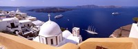 """View of the Caldera, Santorini, Cyclades Islands, Greece by Panoramic Images - 36"""" x 12"""""""
