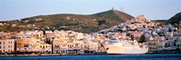 """Ermoupoli, Syros, Greece by Panoramic Images - 36"""" x 12"""", FulcrumGallery.com brand"""