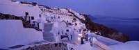 Buildings in a city at dusk, Santorini, Cyclades Islands, Greece Fine Art Print
