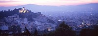 "Athens, Greece with Pink Sky by Panoramic Images - 36"" x 12"""