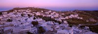 High angle view of buildings on a landscape, Amorgos, Cyclades Islands, Greece Fine Art Print