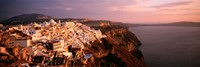 """Aerial view of town, Santorini, Greece by Panoramic Images - 36"""" x 12"""""""