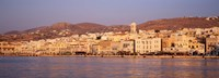 """Ermoupoli at sunset, Syros, Greece by Panoramic Images - 36"""" x 12"""", FulcrumGallery.com brand"""