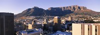 """Aerial View of Cape Town and Table Mountain by Panoramic Images - 36"""" x 12"""", FulcrumGallery.com brand"""