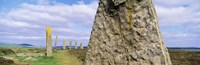 """Ring Of Brodgar with view of a loch, Orkney Islands, Scotland, United Kingdom by Panoramic Images - 36"""" x 12"""""""