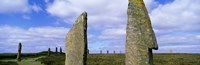 """Close up of 2 pillars in the Ring Of Brodgar, Orkney Islands, Scotland, United Kingdom by Panoramic Images - 36"""" x 12"""""""