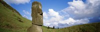"""Stone Heads with Clouds, Easter Islands, Chile by Panoramic Images - 36"""" x 12"""""""