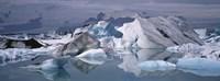 "Glacier Floating On Water, Vatnajokull Glacier, Iceland by Panoramic Images - 36"" x 12"""