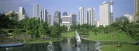 Park In The City, Petronas Twin Towers, Kuala Lumpur, Malaysia Fine Art Print