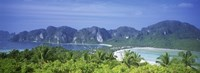 """Thailand, Phi Phi Islands, Mountain range and trees in the island by Panoramic Images - 36"""" x 12"""" - $34.99"""
