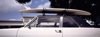 """California, Surf board on roof of car by Panoramic Images - 36"""" x 12"""""""