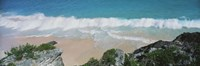 "High angle view of waves in the ocean, Atlantic Ocean, Bermuda by Panoramic Images - 36"" x 12"""