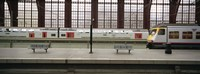 """Trains at a railroad station platform, Antwerp, Belgium by Panoramic Images - 36"""" x 12"""""""