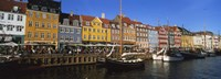 """Buildings On The Waterfront, Nyhavn, Copenhagen, Denmark by Panoramic Images - 36"""" x 12"""""""