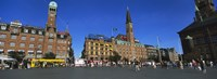 """City Hall Square, Copenhagen, Denmark by Panoramic Images - 36"""" x 12"""""""