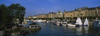 """Boats In A River, Stockholm, Sweden by Panoramic Images - 36"""" x 12"""" - $34.99"""