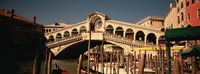 """Bridge over a canal, Venice, Italy by Panoramic Images - 36"""" x 12"""""""