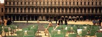 """Tourists outside of a building, Venice, Italy by Panoramic Images - 36"""" x 12"""""""