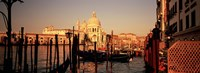 """Gondolas In A Canal, Venice, Italy by Panoramic Images - 36"""" x 12"""""""
