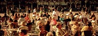 """Tourists at a sidewalk cafe, Venice, Italy by Panoramic Images - 36"""" x 12"""""""