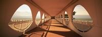 "Corridor of a building, Lignano Sabbiadoro, Italy by Panoramic Images - 36"" x 12"""