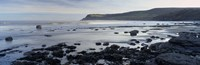 """Rocks On The Beach, Robin Hood's Bay, North Yorkshire, England, United Kingdom by Panoramic Images - 36"""" x 12"""""""