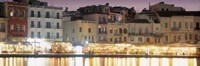 """Bars on the waterfront, Crete, Greece by Panoramic Images - 36"""" x 12"""""""