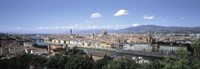 High angle view of a city, Florence, Tuscany, Italy Fine Art Print