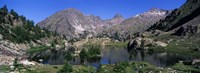 """Lake Surrounded By Mountains, Mercantour, Hinterland, French Riviera by Panoramic Images - 36"""" x 12"""" - $34.99"""