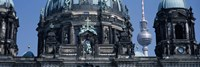 "Low angle view of a church, Berliner Dom, with Television Tower (Fernsehturm) in distance, Berlin, Germany by Panoramic Images - 36"" x 12"", FulcrumGallery.com brand"