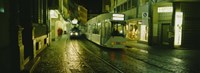"""Cable Cars Moving On A Street, Freiburg, Germany by Panoramic Images - 36"""" x 12"""""""