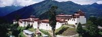 "Castle On A Mountain, Trongsar Dzong, Trongsar, Bhutan by Panoramic Images - 36"" x 12"""