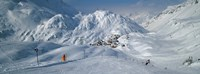 """Rear view of a person skiing in snow, St. Christoph, Austria by Panoramic Images - 36"""" x 12"""""""