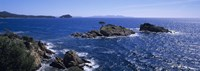 """Waves Crashing On Rocks, Provence, France by Panoramic Images - 36"""" x 12"""""""