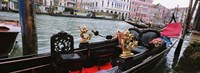"""Close-up of a gondola in a canal, Grand Canal, Venice, Italy by Panoramic Images - 36"""" x 12"""""""