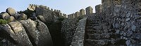 "Low angle view of staircase of a castle, Castelo Dos Mouros, Sintra, Portugal by Panoramic Images - 36"" x 12"""